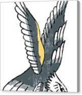 American Eagle Tattoo Canvas Print
