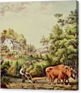 American Farm Scenes Canvas Print