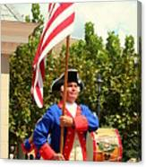 American Fife And Drum Corp Flag Carrier Canvas Print