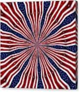 American Flag Kaleidoscope Abstract 6 Canvas Print