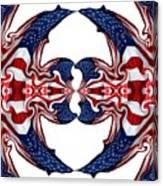 American Flag Polar Coordinate Abstract 1 Canvas Print