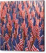 American Flags In Tampa Canvas Print