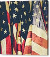 American Flags Painted Square Format Canvas Print