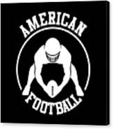American Football Player With Ball And Helmet Canvas Print