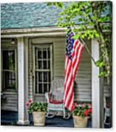 American Front Porch Canvas Print