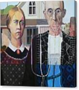 American Gothic In Six Styles Canvas Print