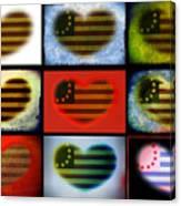 American Hearts Canvas Print