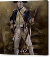 American Infantryman C.1777 Canvas Print