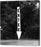 American Interstate - Missouri I-70 Bw Canvas Print