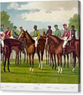 American Jockeys, 1889 Canvas Print