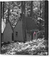 American Little House In The Woods Canvas Print