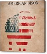American Mammal The Bison Canvas Print