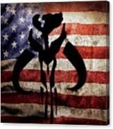 American Mandalorian Canvas Print