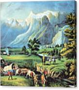 American Manifest Destiny, 19th Century Canvas Print