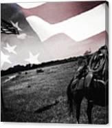 American Patriot -  Cowboy -girl Canvas Print