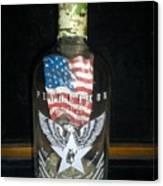 American Pendleton Commemorative Bottle Canvas Print