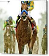 American Pharoah And Victor Espinoza Win The 2015 Preakness Stakes. Canvas Print
