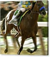 American Pharoah And Victory Espinoza Win The 2015 Belmont Stakes Canvas Print
