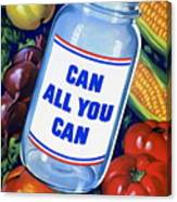 American Propaganda Poster Promoting Canned Food Canvas Print