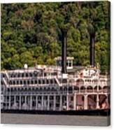 American Queen Riverboat Canvas Print