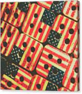 American Quilting Background Canvas Print