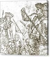 American Revolution Battle Sketch Canvas Print