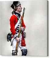 American Revolution British Soldier  Canvas Print