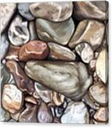 American River Rocks Canvas Print