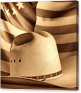 American Rodeo Cowboy Hat Canvas Print