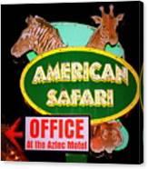 American Safari Motel Canvas Print