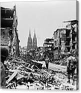 American Soldiers In Cologne, Germany Canvas Print