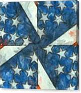 Americana Abstract Canvas Print