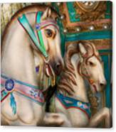 Americana - Carousel Beauties Canvas Print