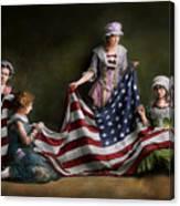 Americana - Flag - Birth Of The American Flag 1915 Canvas Print