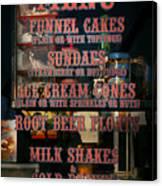 Americana - Food - Menu  Canvas Print