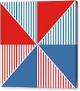 Americana Pinwheel Canvas Print