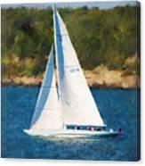 America's Cup 12 Meter Sailboat Newport Ri Canvas Print