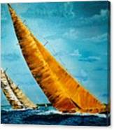 Americas Cup Sailboat Race Canvas Print
