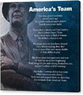 America's Team Poetry Art Canvas Print