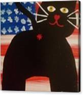 Americat Cat Butt Canvas Print