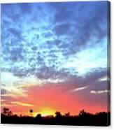 City On A Hill - Americus, Ga Sunset Canvas Print