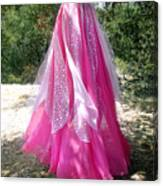 Ameynra Design - Pink-white Petal Skirt 146 Canvas Print