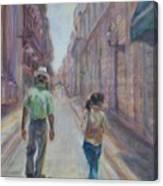 Amigos En Havana Canvas Print