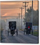 Amish Buggy Sunday Morning Canvas Print