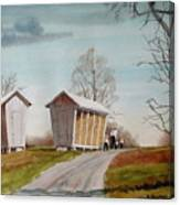 Amish Corncribs Canvas Print