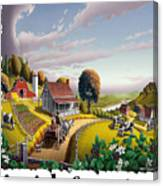 Amish Country - Appalachian Blackberry Patch Country Farm Landscape 2 Canvas Print