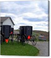 Amish Country Carts Autumn Canvas Print