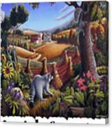 Amish Country - Coon Gap Holler Country Farm Landscape Canvas Print