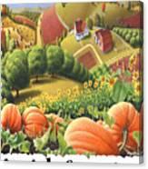Amish Country - Pumpkin Patch Country Farm Landscape Canvas Print