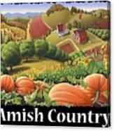 Amish Country T Shirt - Appalachian Pumpkin Patch Country Farm Landscape 2 Canvas Print